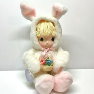 Precious Moments Snowflake Bunny Doll, #5379, Last Forever, Easter 1985, Vintage