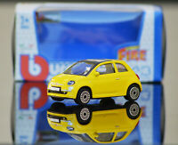 FIAT 500 1:43 Scale Model Toy Car Miniature Diecast Yellow New 500
