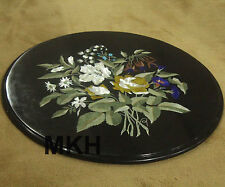 """Marble Inlay Coffee Table Top Handmade 24"""" Tables Marquetry Pietra Dura Mosaic"""