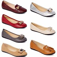 New Womens Lady Comfort Slip On Embellished Ballet Flats All Styles & Colors