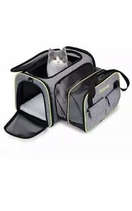 Pet carrier, Expandable Travel Bag For Puppy Dogs Cats, Airline Approved AA