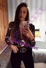 Zara Chain Print Crossover Bodysuit Small S 8 New