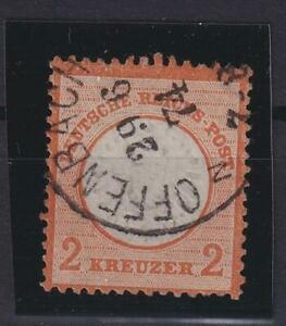 DR 24 Brustschild 2 Kreuzer gestempelt Fotoattest Krug (ht44)