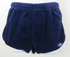 Adidas Ladies 70s 80s Velour Shorts Vintage Vtg Blue 1980 Retro Women D36 10 8 S