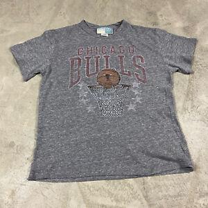 GAP KIDS JUNK FOOD Chicago Bulls Retro T Shirt Youth L Rayon Tri Blend NBA