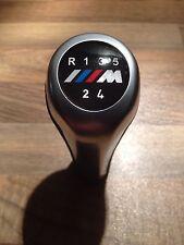 BMW M Sport M Power 5 Speed Gear Knob palo se adapta a todos los coches Manual Cuero Cromado