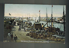 1943 Occupied Jersey Channel Islands England Rppc Postcard Cover Harbor View