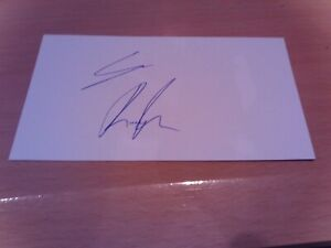 signed card of lincoln city footballer sean roughan