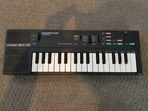 Casio SK-10 Sampling Keyboard Tested Working No AC Adapter Rare