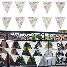 Fabric Vintage Floral Buntings Party Wedding