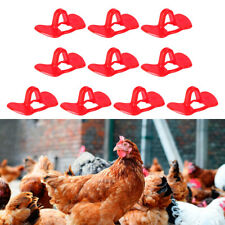 10pc Pinless Pheasant Chicken Peeper Poultry Blinders Spectacle Eye Glasses set