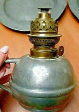Vintage Likely French Pewter oil lamp Lacking Chimney
