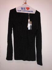 NEW AUTH LAUREN VIDAL Women's Black Blouse Shirt Size S 120$