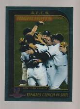 2001 Topps Chrome #330 New York Yankees ALCS Championship card