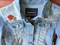 New Girl's Limited TOO Jean Jacket Size 6X NWT Rose Patches Super Cute!