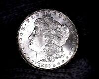 """Error"" BU 1880-S VAM-11 ""Hot 50"" 0/9 Overdate Morgan Silver Dollar Coin"