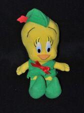 Peluche doudou oiseau titi Warner Bros 1993 robin des bois vert 21 cm TTBE