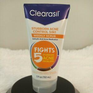 Clearasil stubborn acne control 5 in1 weekly scrub salicylic acid 5 fl. oz