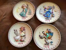 Vintage M.J. Hummel 1971-72-73-74 Annual Plates