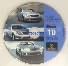2001 2002 2003 2004 Mercedes C230 C240 C320 C32 AMG Navigation CD #10 Canada Map