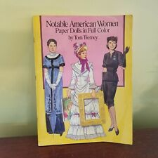 Paper Dolls Notable American Women Paper Dolls Color Tom Tierney Uncut Vintage