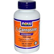 Now Foods L-Carnosine - 100 - 500mg Vcaps - Antioxidant Amino Acid