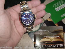R0LEX SUBMARINER TWO TONE BLUE DIAL BEZEL IN LBN CONDITION ! FREE SHIPPING USA !