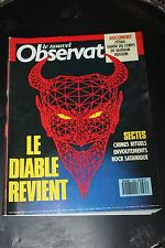 Le Nouvel Observateur N1363 1990 DIABLE SECTES CRIMES RITUELS ENVOUTEMENTS