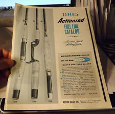VINTAGE 1965 ACTION FISHING ROD CATALOG