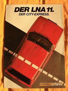 Citroen LNA 11 1983 Prospekt Brochure Depliant