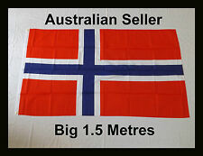 Big 1.5 Metre Kingdom of Norway Flag  Large Size Kongeriket Norge Norwegian
