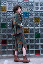 handmade 3Teiler Jacke Hose Top Samt True Vintage 3piece jacket trousers top 90s