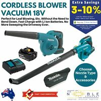 Makita 18V Cordless Blower Vacuum Leaf Debris Jobsite Yard Garden Work Dust Bag