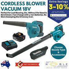 Makita 18V Cordless Blower Vacuum Leaf Debris Jobsite Yard Garden Work Dust Bag