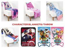 CHILDRENS BOYS GIRLS CHARACTER THROWS - PAW PATROL - TV PEPPA - FLEECE BLANKETS