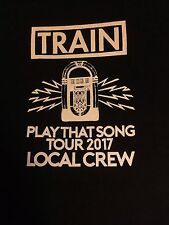 Train Play That Song Tour 2017 Local Crew T-shirt Size XL