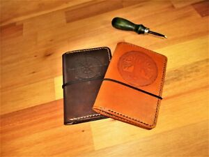 Passport Wallet Personalized FIELD NOTES Leather Notebook Cover Custom Handmade