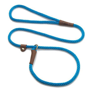 Mendota - Dog Puppy Leash - British Style Slip Lead - Blue - 4, 6 Foot
