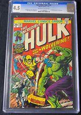 The Incredible Hulk #181 1st App Wolverine W/MVS Stamp Intact CGC 4.5 1974