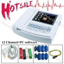 US Digital 12-lead 12-channel Electrocardiograph ECG/EKG Machine,interpretation