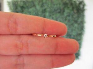 .05 Carat Diamond Engagement Ring 18k Rose Gold ER430 sep