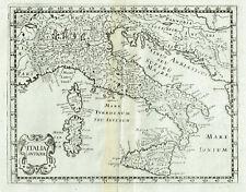 ITALIA 1648 P.BRIET Stampa Antica Originale Rara Italia Antiqua Sicilia Sardegna