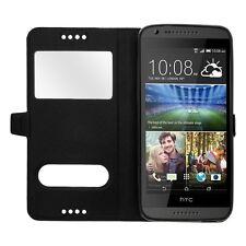 Etui Housse Coque Pochette Noir Interieur Silicone pour HTC Desire 620