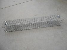 Double door medium rodent repeating live trap 4 x 4 x 30