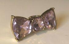 Betsey Johnson Pink Crystal Bow Ring