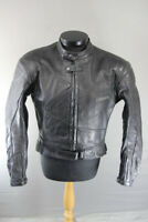 LOOKWELL LEATHER BIKER JACKET WITH REMOVABLE SHOULDER & ELBOW CE ARMOUR 42 INCH