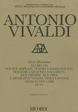 NEW DIXIT DOMINUS RV594 SALMO    109 SCORE CRITICAL EDITION
