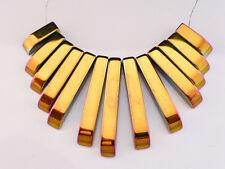 1 X Ventilador Del Arco Iris Hematites Conjunto De Collar Piedras Preciosas Perlas 12mm-29mm X 3.5mm (GB7)