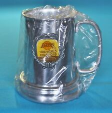 LOS ANGELES LAKERS STEIN MUG ALUMINUM 1988 WORLD CHAMPIONS BACK TO BACK , 87-88