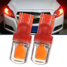 2x T10 194 W5W COB LED Red Car Super Bright Silica License Plate Light Bulb 12V